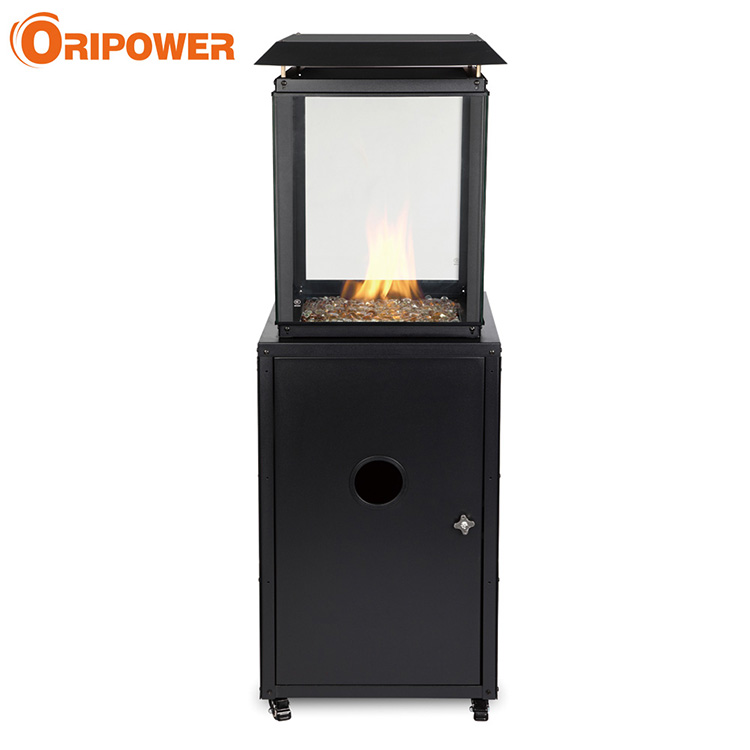P1201 Glass flame patio heater with glass stones,CE approval
