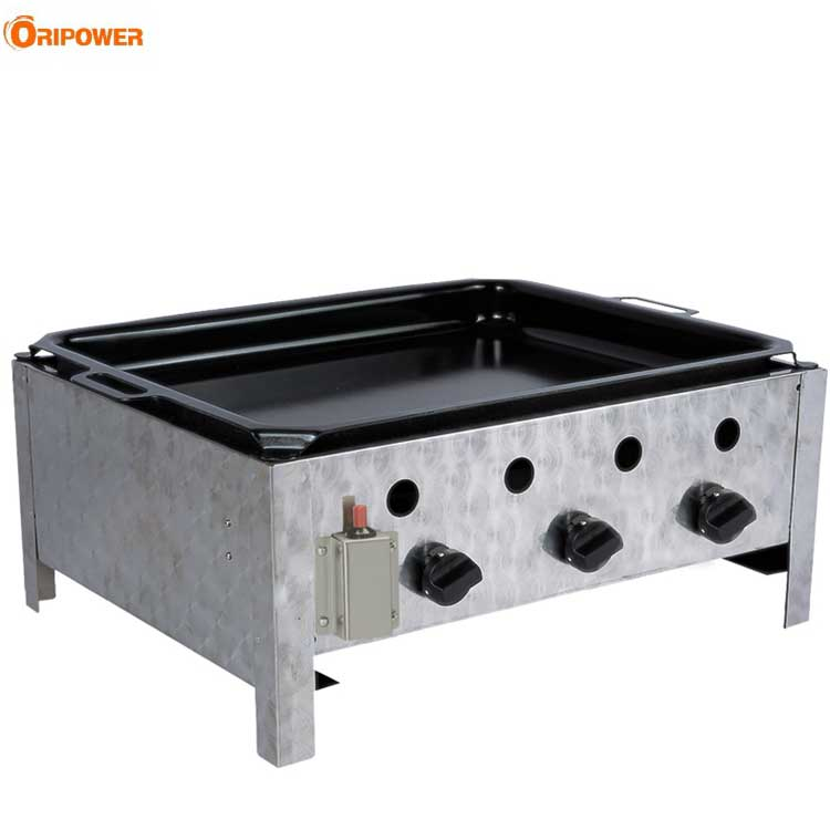 K1103A Stainless Steel Outdoor Commercial 3 burners Gas BBQ Grill
