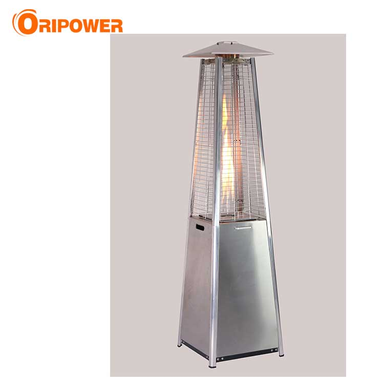H1501AD 1.9m real falme pyramid patio heater in stainless steel