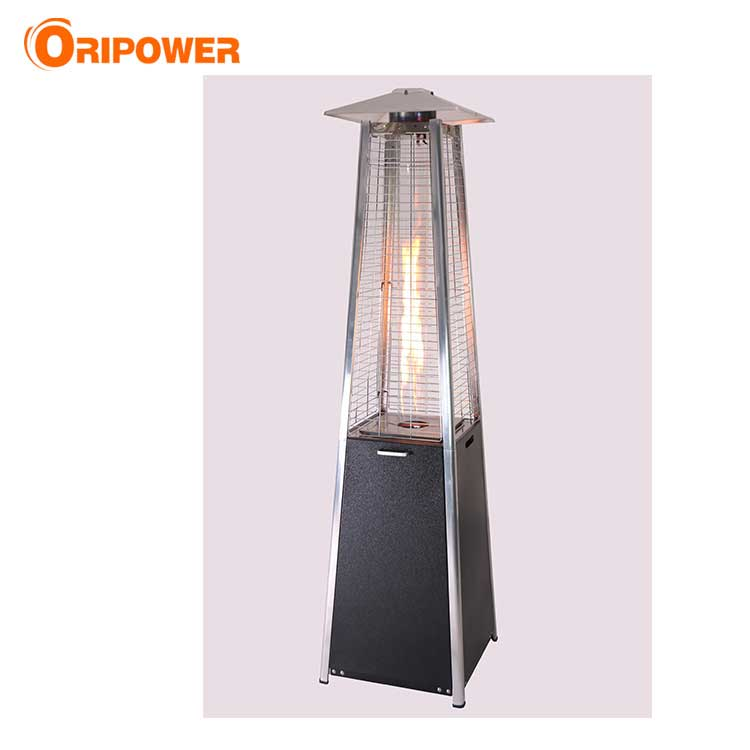 H1502AD 1.9m real flame pyramid steel patio heater