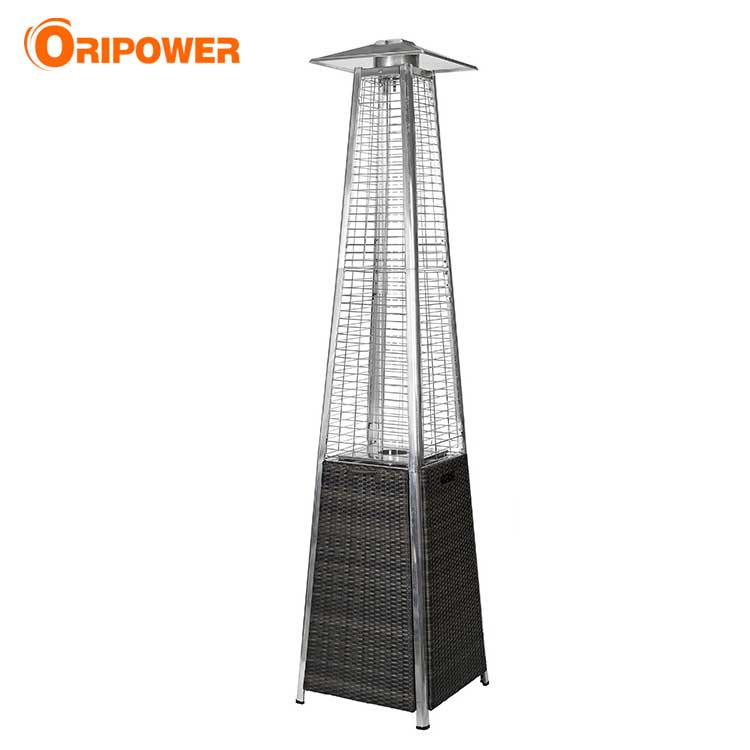 H1505  Rattan Wicker Pyramid Patio Heater