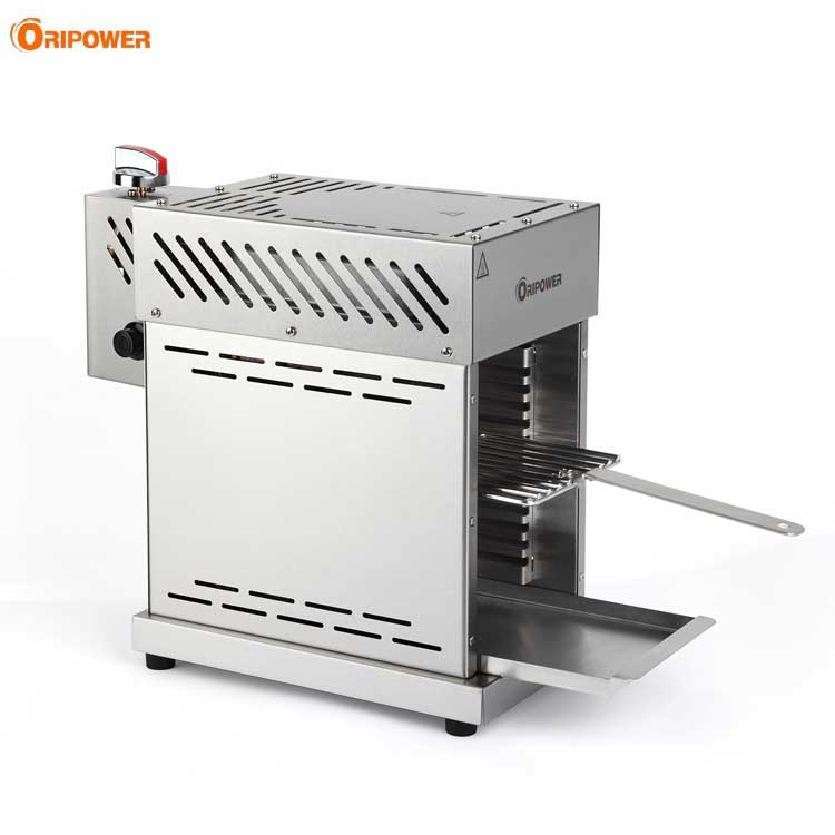 Stainless steel gas beefer grill